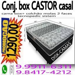 Colchão CASTOR + cama box só $ 1.290,00 !!!