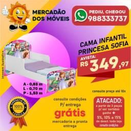 Título do anúncio: Minicama Infantil Princesa Sofia Em Até 10x Nos Cartões - Entrega Grátis