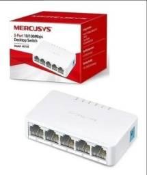 Título do anúncio: Switch De Mesa Mercusys 5 Portas 10/100mbps Ms105. Na loja R$ 60,00 aqui R$ 45,00