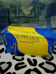 Luva látex Super Max , luva de procedimento não cirúrgico