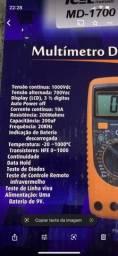 Título do anúncio: Multímetro digital MD 1700