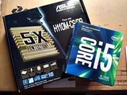 Kit Gamer Core i5-7400 Kaby Lake + Asus H110m-CS + 8 Gb Ddr4 2400 Fury