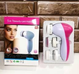 Título do anúncio: Escova Limpeza Facial Esfoliante Massageador 5/1 Portátil