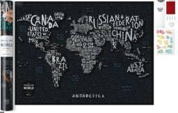Título do anúncio: Mapa Travel Map Letters World