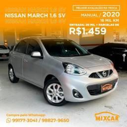 Título do anúncio: Nissan March 1.6 SV 2020! Novinho!