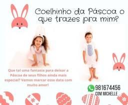 Fantasia infantil Coelho e Coelha da Páscoa