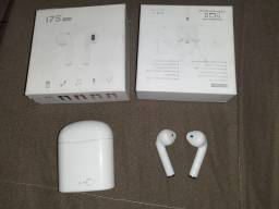 Fone de ouvido sem fio I7S TWS usado , na caixa