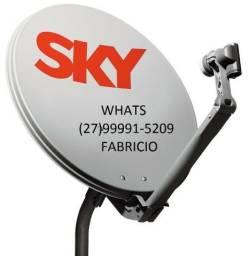 Faço apontamento é instalação de antenas banda ku e digital