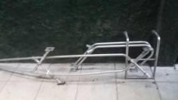 Grade guarda mancebo completa e escada e pulpito para lancha
