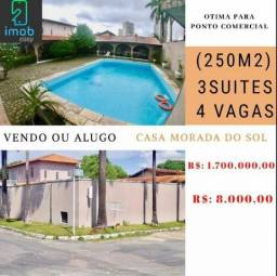 Aluga-se casa no Morada do Sol com 3 suítes + piscina (ótima para ponto comercial)