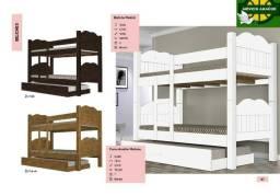 Beliche madri e cama auxiliar 100% MDF zap *