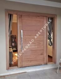 Porta madeira maciça alto padrão pivotante