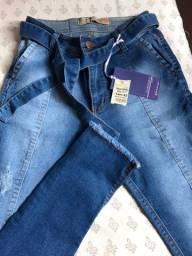 3 por 100... todas novas calças jeans feminina.