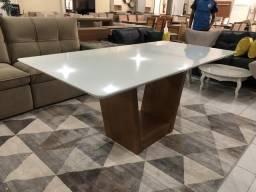 Super sala de jantar retangular nova mesa completa