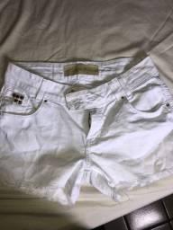 Short jeans branco Damyller