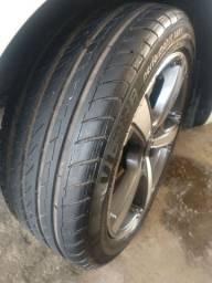 Jogo de rodas 17x205x45, com pneus novos.