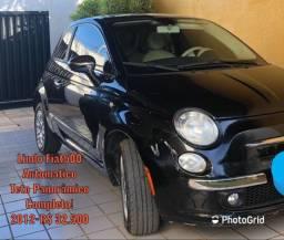 Lindo Fiat 500-Vende /Recebe moto de menor valor/Financia