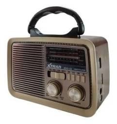 Caixa de Som Radio Retro Vintage Portátil Bluetooth Am Fm