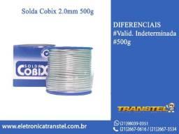 Solda Estanho 2mm 60x40 500g Cobix