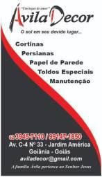 Promoção de cortinas e persianas *