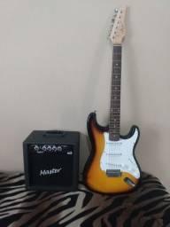 Kit guitarra + amplificador+ capa + alça top