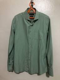 Camisa Social Colômbo Masculina Verde Tamanho: M - Nova/ Não Usada
