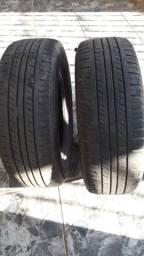 Vende 3 pneus de D20 meia vida R 16 105