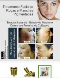 Creme Facial de Mulateiro Extratos Amazônicos - Peles c/ Manchas e Rugas - 100ml