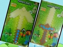 Espada e Picareta Minecraft Com Led E Som