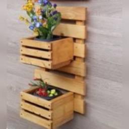 PROMOÇÃO: Jardim Vertical de madeira