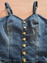 Título do anúncio: Macaquinho CKZ Jeans n. 42