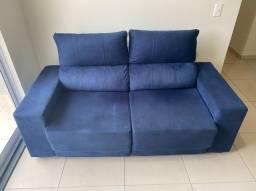 Sofá retrátil reclinável 02 lugares
