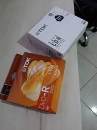 Mídias de cd e dvd