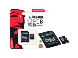 Cartão de memória micro SD 128GB com adaptador Classe 10 Canvas Select Kingston