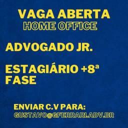 Título do anúncio: Vaga Aberta - Advogado Jr. / Estagiário +8º Período