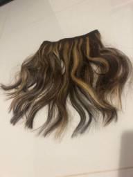 Aplique tic tac com cabelo humano