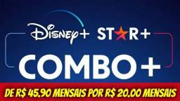 Título do anúncio: 10 Reais. Disney Plus + Star Plus + HBO Max
