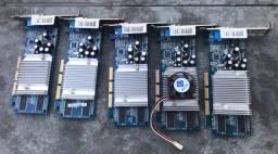 Vende-se 8 placas de vídeo AGP 128 giga