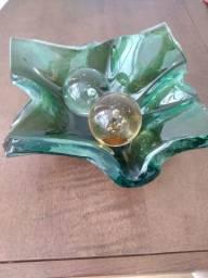Centro de mesa cristal de murano ca d'oro