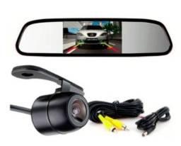 Título do anúncio: Retrovisor Monitor 4.3 + Camera Ré Borboleta Colorida Fox