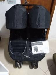 Barbada-Carrinho Gêmeos Import Mini City Jogger-Exc Est e Qualidade-Nonoai Z Sul-Poa