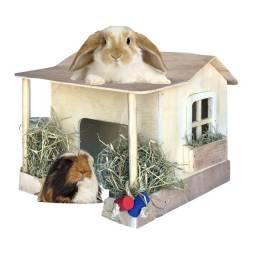Título do anúncio: Mansão casa de varanda para coelho porquinho roedores
