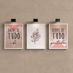 Kit 3 Quadros Decorativos - Antes de tudo fe - Aceitamos cartoes/PIX
