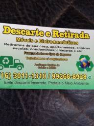 Descartes e retirada de móveis eletrodomésticos  16 3011 1310