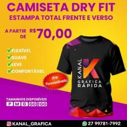 Título do anúncio: Camiseta Dry Fit Personalizada Manga Curta