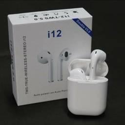 Título do anúncio: Fone Bluetooth I12 Tws Branco<br><br>