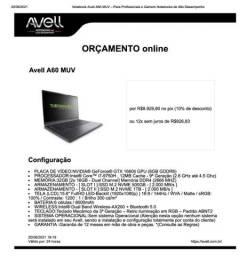 Avell A60 MUV 32Gb RAM, 512Gb + 1Tb SSD