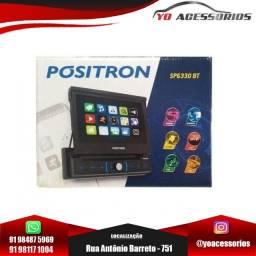 """Dvd Player Automotivo Pósitron Sp6330Bt 1 Din 7"""" Retrátil Bt Espelhamento USB Sd MP3"""