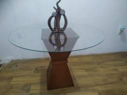 ENTREGO e PARCELO - Mesa de jantar de vidro