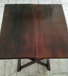 Mesa de madeira dobrável 90 x 90